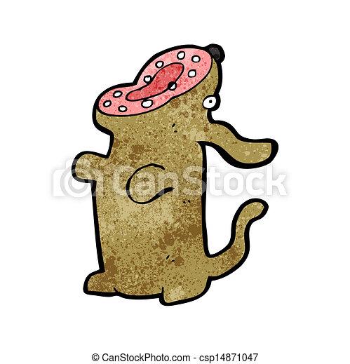 Cartoon bellender Hund - csp14871047