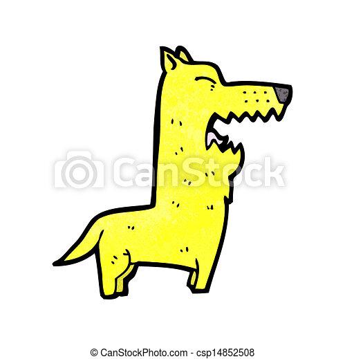 Cartoon bellender Hund - csp14852508