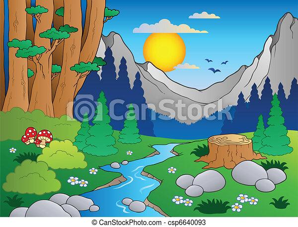 Cartoon Forestlandschaft 2 - csp6640093