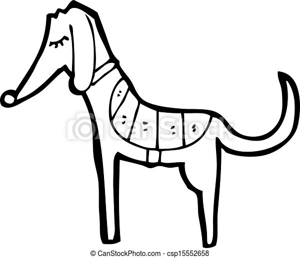 Cartoon Greyhound - csp15552658