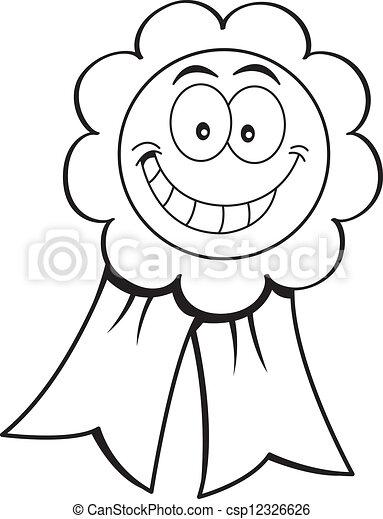 Cartoon Illustration einer Auszeichnung - csp12326626