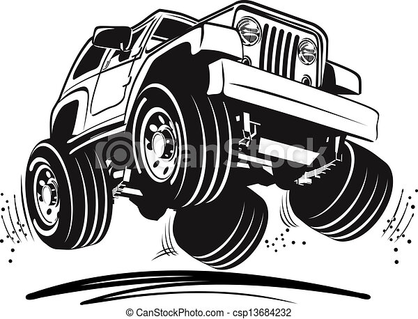 Cartoon-Jeep - csp13684232