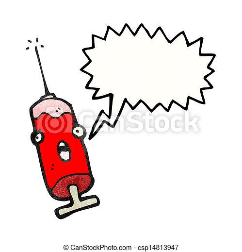 Cartoon Nadel aus Blut - csp14813947