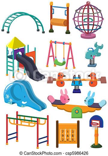 Cartoon Park Spielplatz-Ikone - csp5986426