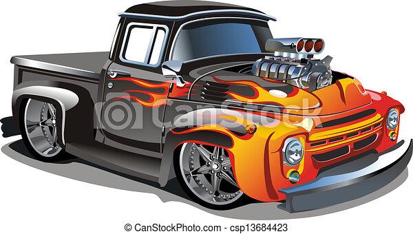 Cartoon Retro Hot Rod - csp13684423