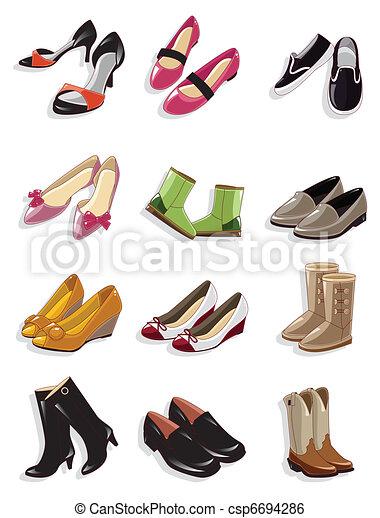 Cartoon-Schuhe-Ikone - csp6694286