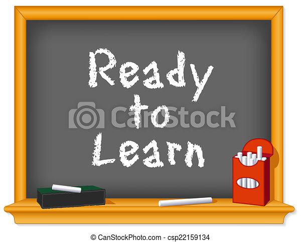 Chalk Board, bereit zum Lernen - csp22159134