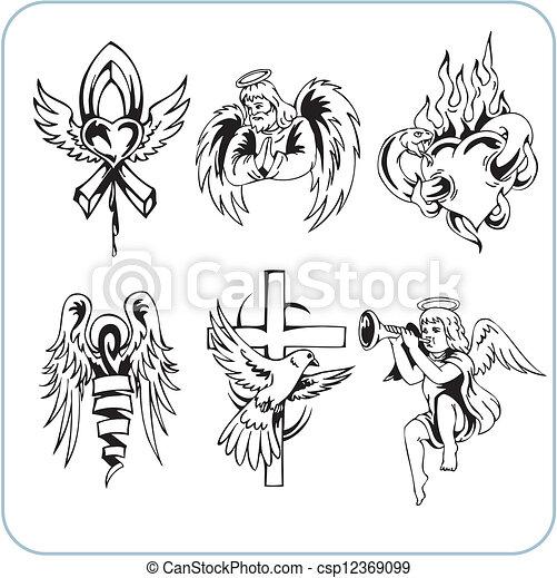 christliche Religion - Vektor illustriert. - csp12369099