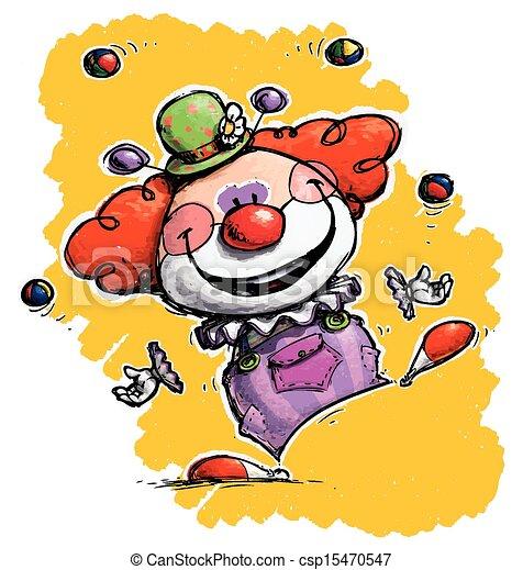 Clown jongliert - csp15470547