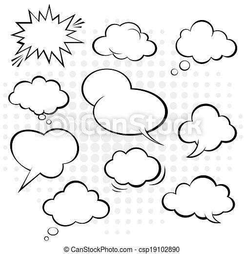 Comic-Rede Blase. Vector. - csp19102890