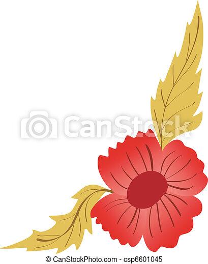 Corner-Floral-Design - csp6601045