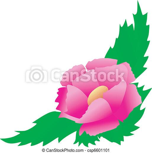 Corner-Floral-Design - csp6601101