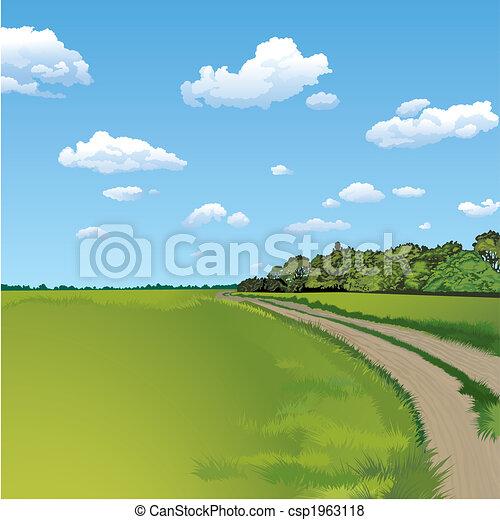 Countryside Road, ländliche Szene - csp1963118