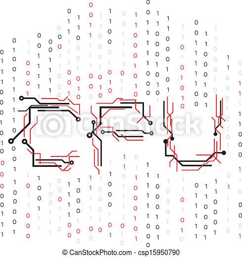 CPU-Schaltkreis binär - csp15950790