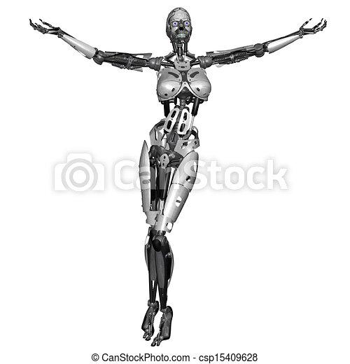 Cyborg-Frau - csp15409628