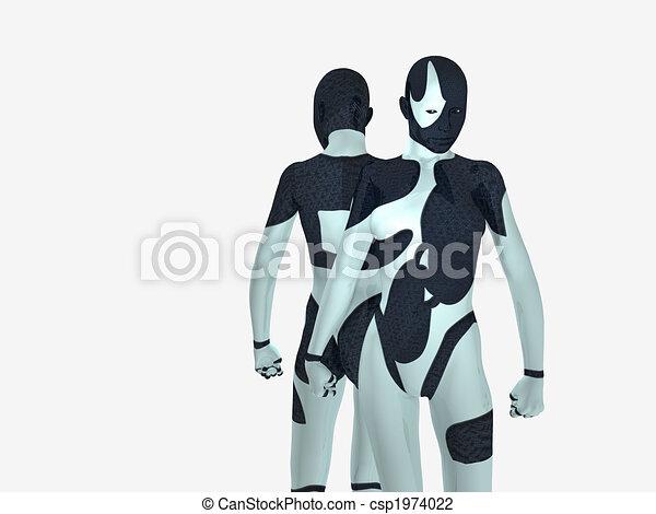 cyborg, frau - csp1974022