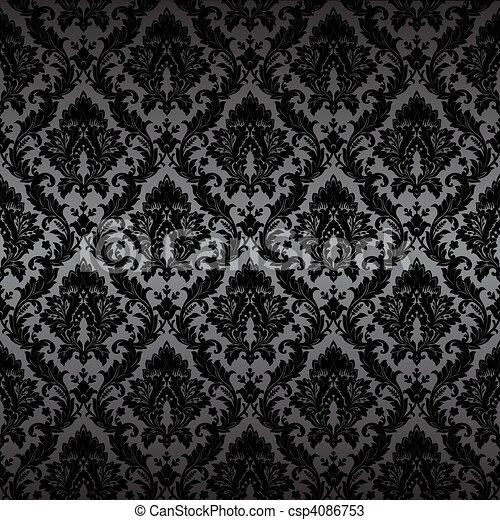 Damask nahtlose Tapete - csp4086753
