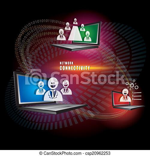 Das Absract des Netzwerk-Connectivity Concept Vektors. - csp20962253