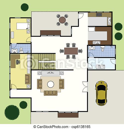 Das Haus des Blumenplantages - csp6138165