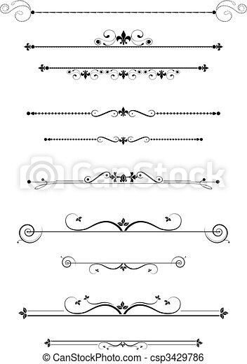 Decorative Divider - csp3429786