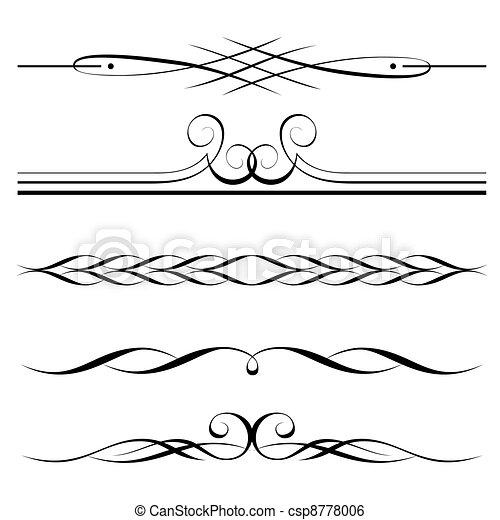 Dekorationselemente, Grenz- und Seiteregeln - csp8778006