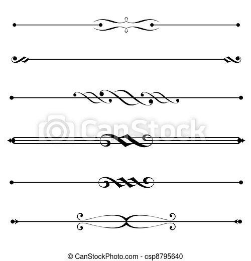 Dekorationselemente, Grenz- und Seiteregeln - csp8795640