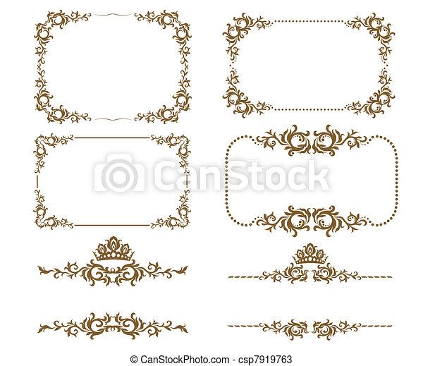 Dekorationsrahmen - csp7919763