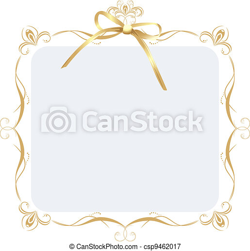 Dekorationsrahmen mit goldenem Bogen - csp9462017