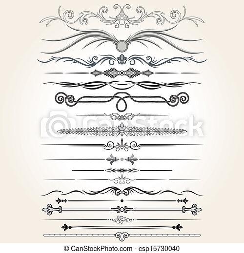 Dekorationsregeln. Vektorenmusterelemente - csp15730040