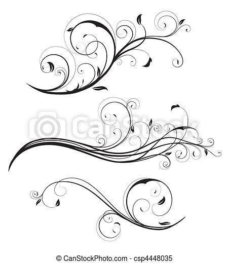 Dekorative Blumenelemente - csp4448035