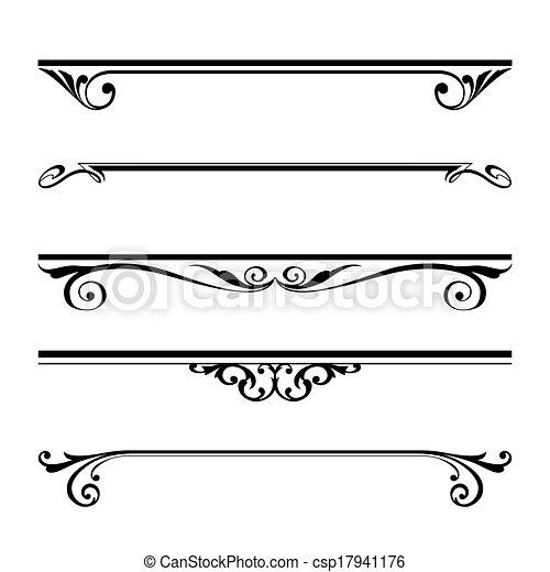 Dekorative Elemente, Grenz- und Seitenregeln. - csp17941176