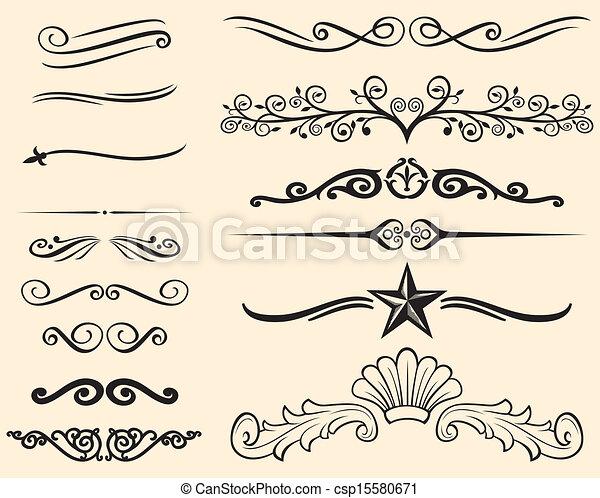 Dekorative Linien. - csp15580671