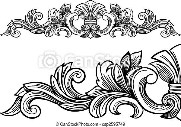 Dekorativer Rahmen. - csp2595749