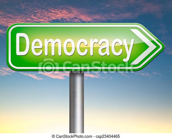 Demokratie - csp23404465