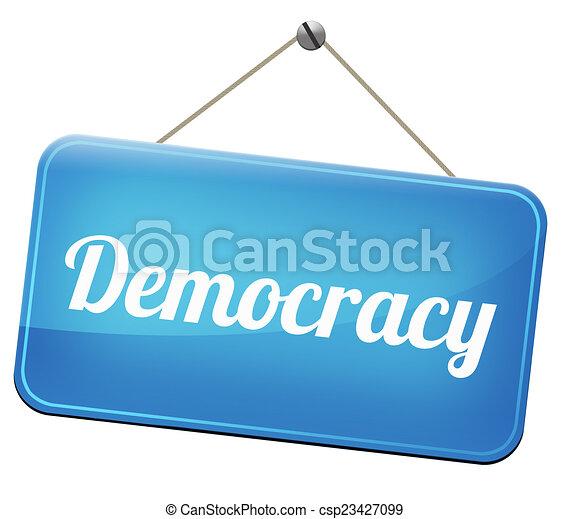 Demokratie - csp23427099