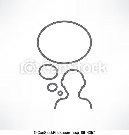 denken, mann - csp18614357