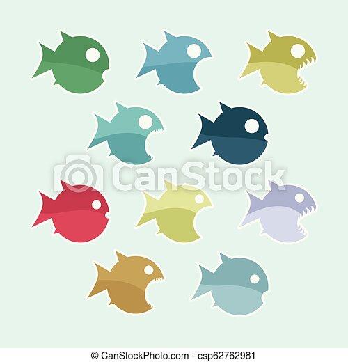 Der Fisch veranschaulicht. - csp62762981