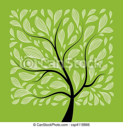 Der Kunstbaum ist schön für dein Design - csp4118866