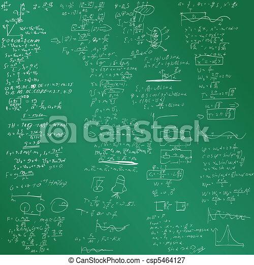 Der vektorische Hintergrund mit physikalischen Formeln - csp5464127
