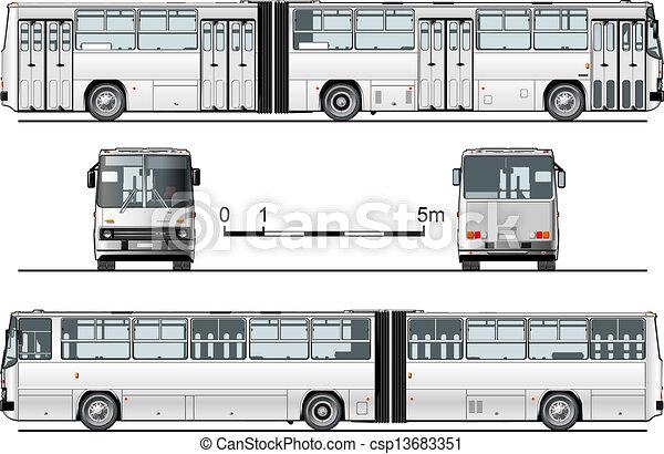 Detaillierter Stadtbus - csp13683351