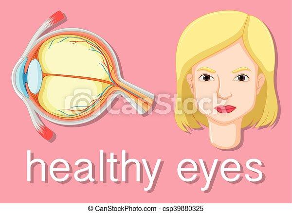 Diagramm, das Krankheiten im menschlichen Auge zeigt - csp39880325
