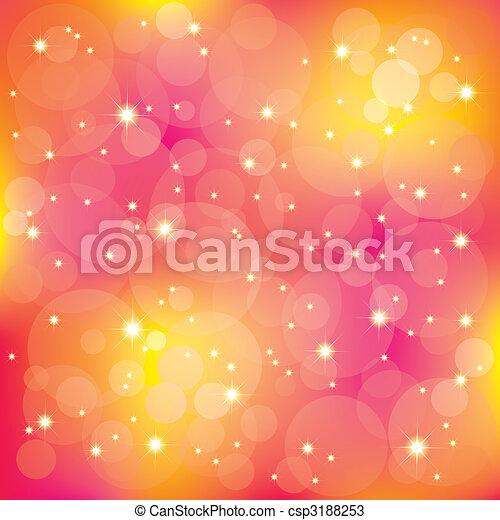 Die funkelnden Sterne leuchten auf bunter Herkunft - csp3188253