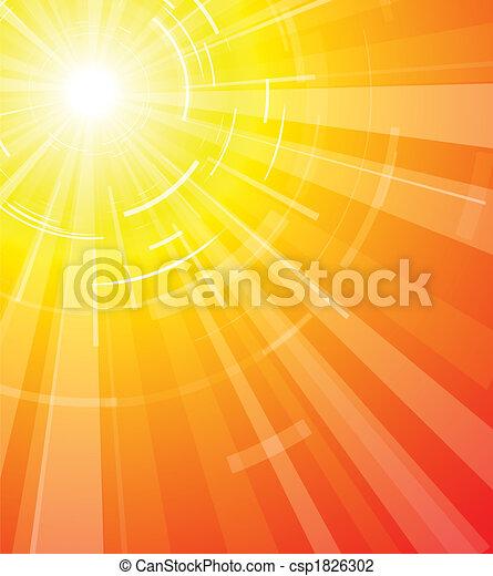 Die heiße Sommersonne - csp1826302