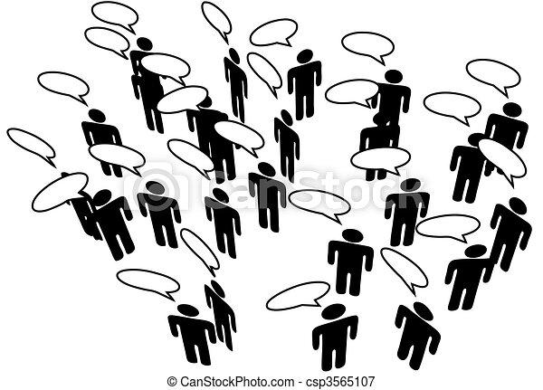 Die Rede des sozialen Mediennetzes verbindet die Kommunikation - csp3565107