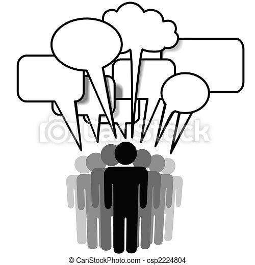 Die Social Network Media-Gruppe spricht Redeblasen - csp2224804