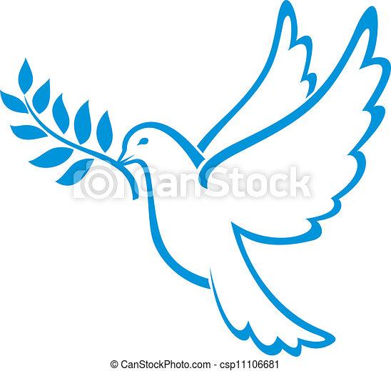 Die Taube des Friedens - csp11106681