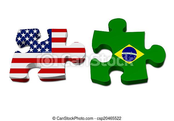 Die USA arbeiten mit Brasilien. - csp20465522