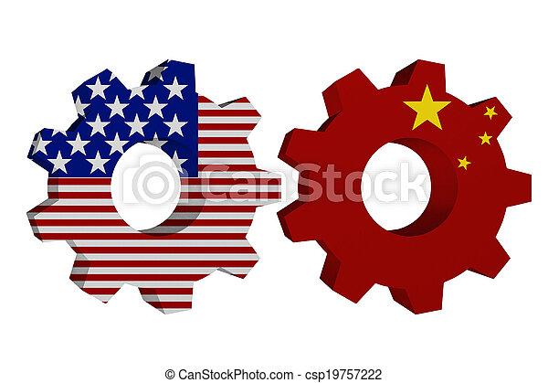 Die USA arbeiten mit Porzellan. - csp19757222