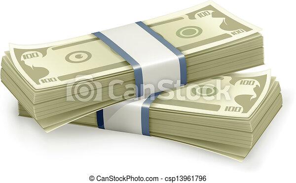 Eine Menge Dollar, Vektor - csp13961796