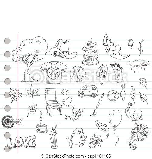 Doodle Set 1 - csp4164105